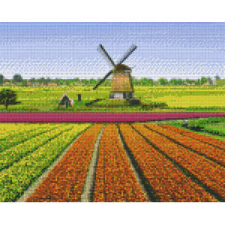 Pixel Hobby Pixelhobby 9 Basisplaten Tulpen-veld-molen