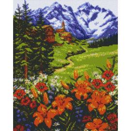 Pixel Hobby Pixel Hobby 9 Grundplatten Berg mit Blumen