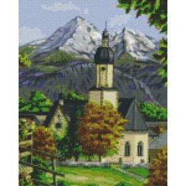 Pixel Hobby Pixel hobby 9 Plaques de base Eglise dans les montagnes