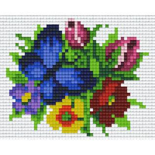 Pixel Hobby Pixelhobby 1 Basisplaat Bloemen