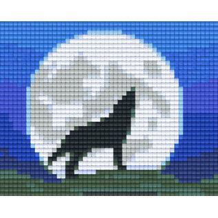 Pixel Hobby Pixelhobby 1 Basisplaat Wolf Nacht