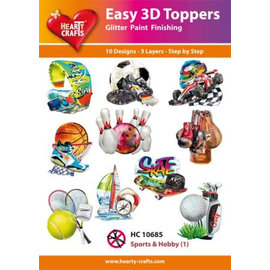 Hearty Crafts Easy 3D Topper - Sport und Hobby