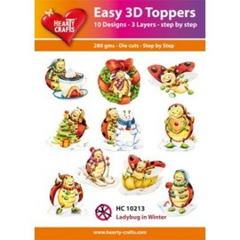 Hearty Crafts Easy 3D Topper - Ladybug in winter