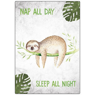Creatief Art Spreukenbordje: Nap all day, sleep all night!   Houten Tekstbord