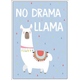 Creatief Art Spreukenbordje: No Drama LLama | Houten Tekstbord