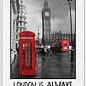 Creatief Art Spreukenbordje: London is always a good idea!   Houten Tekstbord