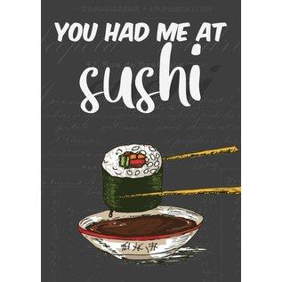 Creatief Art Spreukenbordje: You had me at Sushi!   Houten Tekstbord