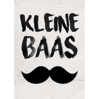 Creatief Art Spreukenbordje: Kleine Baas   Houten Tekstbord