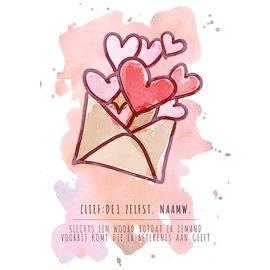 Creatief Art Spreukenbordje: Liefde, slechts een woord totdat iemand er betekenis aan geeft! | Houten Tekstbord