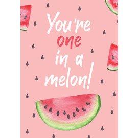 Creatief Art Spreukenbordje: You're one in a melon! | Houten Tekstbord