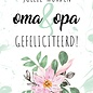 Creatief Art Spreukenbordje: Jullie worden oma en opa gefeliciteerd!   Houten Tekstbord