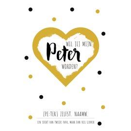 Creatief Art Spreukenbordje: Wil jij mijn Peter worden? | Houten Tekstbord