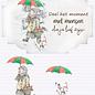 Creatief Art 3D-Zeichen - Kind mit Regenschirm