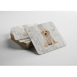Creatief Art Hond Labrador Pup | Houten Onderzetters 6 Stuks