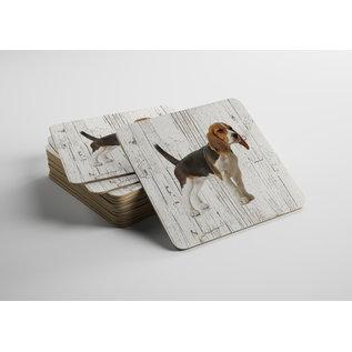 Creatief Art Hond Beagle | Houten Onderzetters 6 Stuks