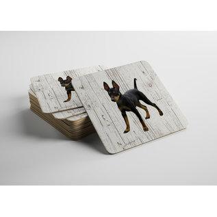 Creatief Art Hond Doberman Pinscher | Houten Onderzetters 6 Stuks
