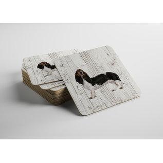 Creatief Art Hond Teckel | Houten Onderzetters 6 Stuks