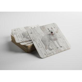 Creatief Art Hond Husky | Houten Onderzetters 6 Stuks