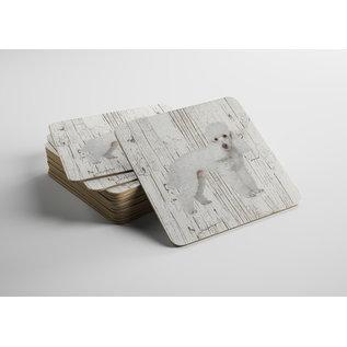 Creatief Art Hond Poedel | Houten Onderzetters 6 Stuks