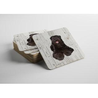 Creatief Art Hond Bouvier | Houten Onderzetters 6 Stuks