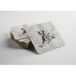 Creatief Art Hond DALMATIËR | Houten Onderzetters 6 Stuks