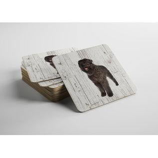 Creatief Art Hond Bouvier des Flanders | Houten Onderzetters 6 Stuks