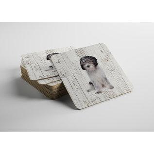 Creatief Art Hond Nederlandse Schapendoes | Houten Onderzetters 6 Stuks