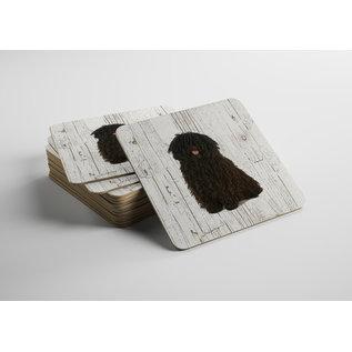 Creatief Art Hond Puli | Houten Onderzetters 6 Stuks