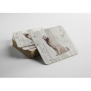 Creatief Art Hond Tatrahond | Houten Onderzetters 6 Stuks
