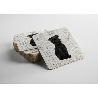 Creatief Art Hond Affenpinscher | Houten Onderzetters 6 Stuks