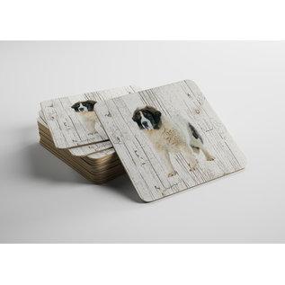 Creatief Art Hond Mastin De los Prineos (Pirineese Mastiff)   Houten Onderzetters 6 Stuks