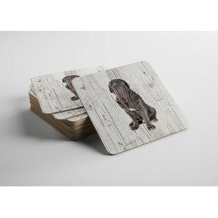 Creatief Art Hond Mastino Napoletano | Houten Onderzetters 6 Stuks