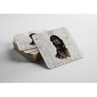 Creatief Art Hond Tibetaanse Mastiff   Houten Onderzetters 6 Stuks