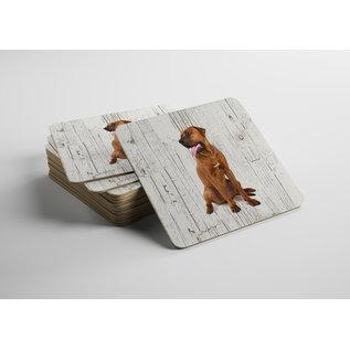 Creatief Art Hond Tosa | Houten Onderzetters 6 Stuks
