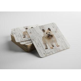 Creatief Art Hond Cairn Terriër | Houten Onderzetters 6 Stuks