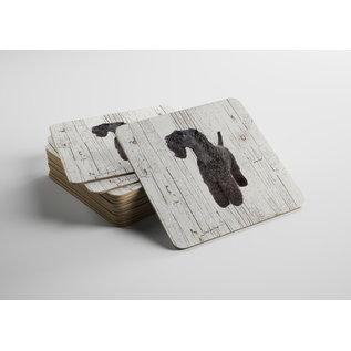 Creatief Art Hond Kerry Blue Terriër | Houten Onderzetters 6 Stuks