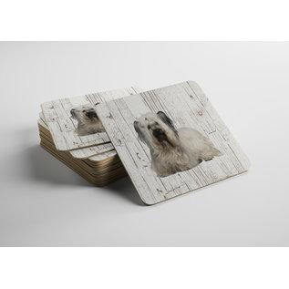 Creatief Art Hond Skye Terriër | Houten Onderzetters 6 Stuks