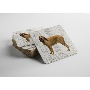 Creatief Art Hond Bloedhond | Houten Onderzetters 6 Stuks