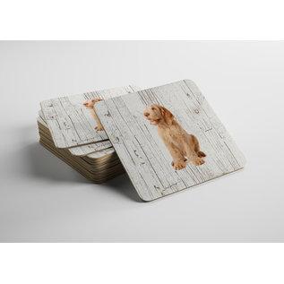 Creatief Art Hond Spinone Italiano | Houten Onderzetters 6 Stuks
