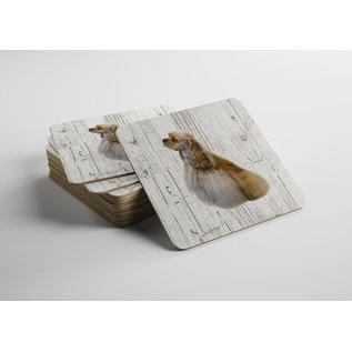 Creatief Art Hond Amerikaanse Cocker Spaniel | Houten Onderzetters 6 Stuks