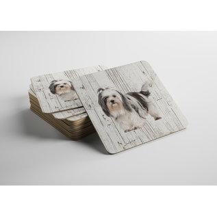Creatief Art Hond Shih Tzu | Houten Onderzetters 6 Stuks