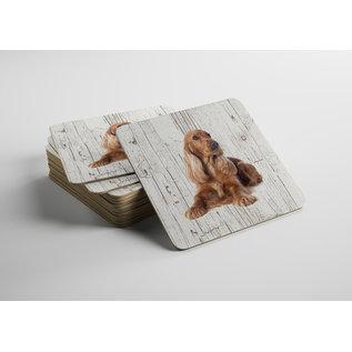 Creatief Art Hond Engelse Cockerspaniël | Houten Onderzetters 6 Stuks