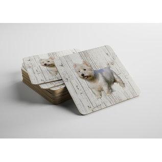 Creatief Art Hond West Highland White Terriër | Houten Onderzetters 6 Stuks