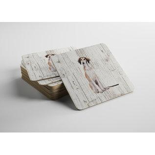 Creatief Art Hond Saluki | Houten Onderzetters 6 Stuks