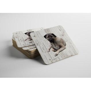 Creatief Art Hond Kangal | Houten Onderzetters 6 Stuks