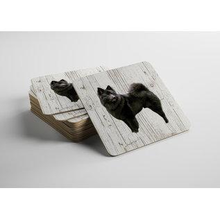 Creatief Art Hond Keeshond | Houten Onderzetters 6 Stuks