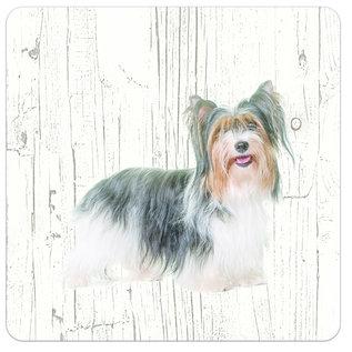 Creatief Art Hond Biewer Yorkshire Terrier | Houten Onderzetters 6 Stuks