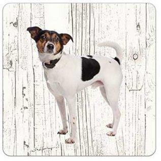 Creatief Art Hond Boerenfox | Houten Onderzetters 6 Stuks