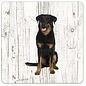 Creatief Art Hond Beauceron   Houten Onderzetters 6 Stuks
