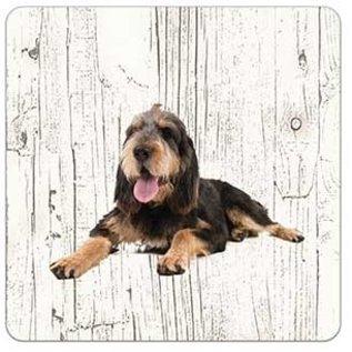 Creatief Art Hond Otterhound | Houten Onderzetters 6 Stuks